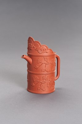 Lot 436 - A YIXING CERAMIC TEAPOT AND COVER
