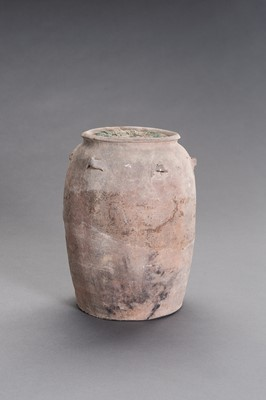 Lot 285 - AN INTERESTING CERAMIC AMPHORA FILLED WITH COINS
