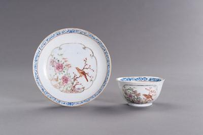 Lot 407 - A FINE CHINA EXPORT PORCELAIN TEA SET