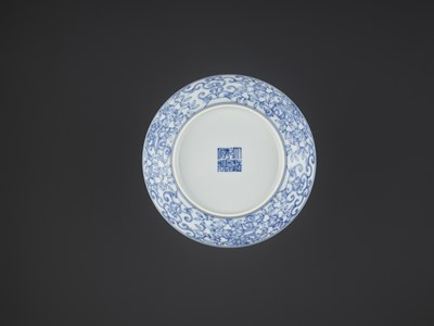 Lot 347 - A 'SPRING' BOWL, QIANLONG MARK AND PERIOD