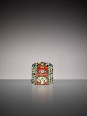 Lot 65 - NAMIKAWA YASUYUKI: A SUPERB AND VERY RARE MINIATURE CLOISONNÉ ENAMEL BOX AND COVER