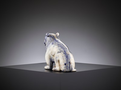 Lot 47 - AN IMPERIAL LAPIS LAZULI FIGURE OF A BEAR, QIANLONG PERIOD