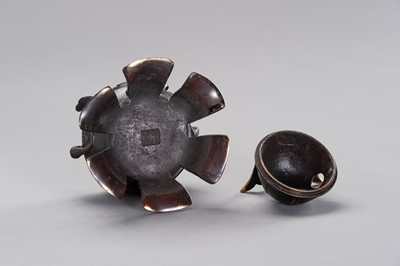 Lot 10 - A KORO IN A SHAPE OF KABUTO