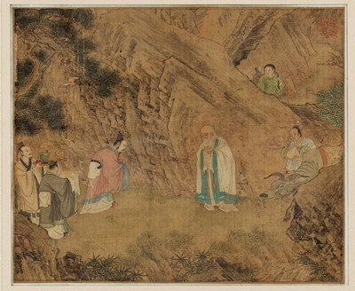 Lot 462 - A CHINESE PAINTING OF AN OFFERING