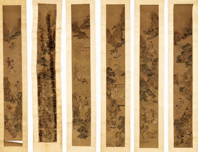 Lot 463 - A GROUP OF SIX SCROLL PAINTINGS