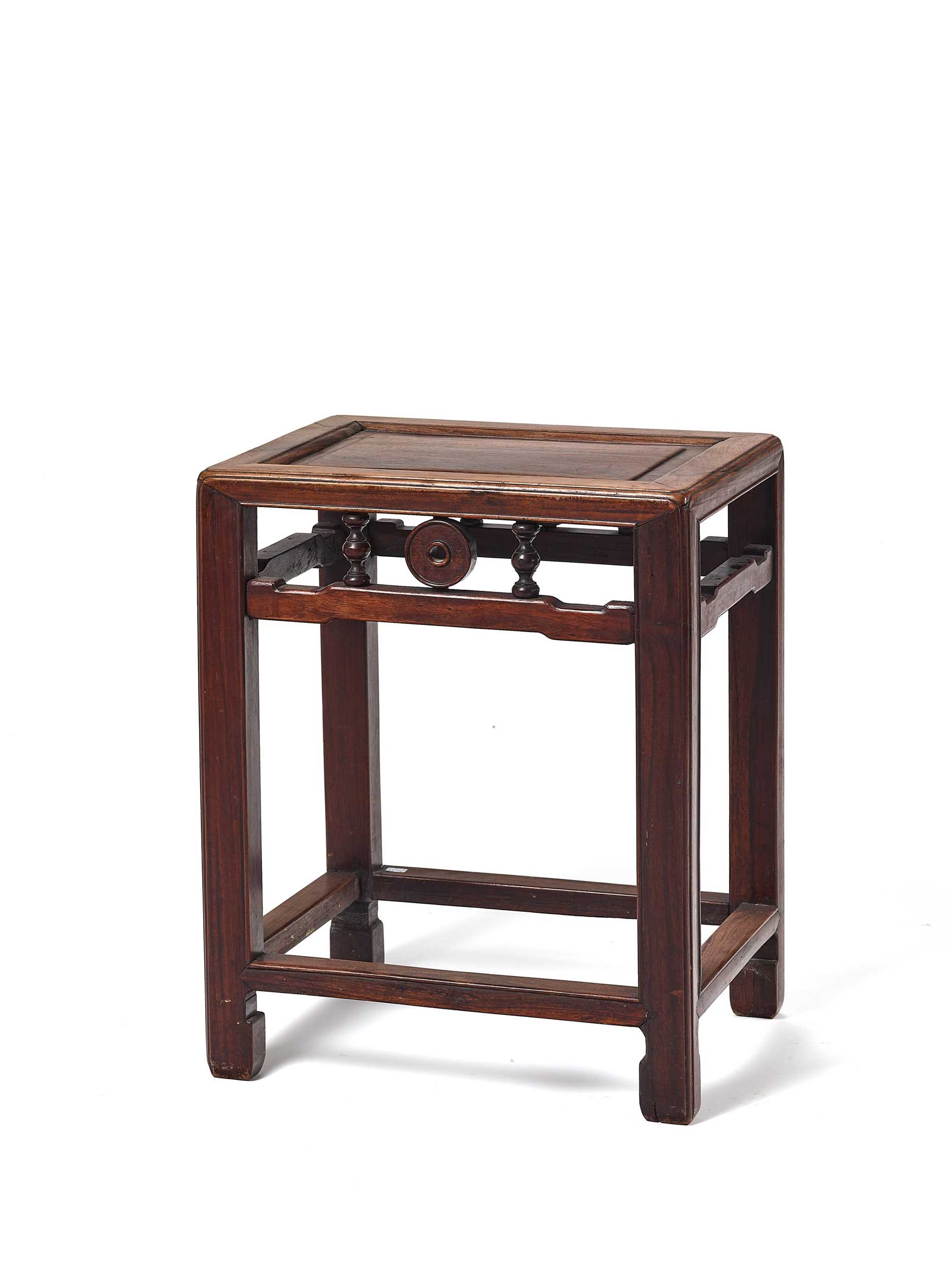 Lot 149 - A CHINESE HARDWOOD SIDE TABLE, LATE QING DYNASTY