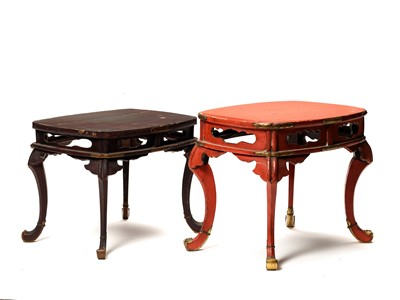 Lot 223 - TWO SMALL JAPANESE LACQUER TABLES