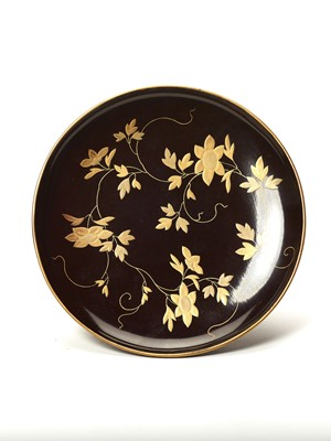 Lot 209 - A FINE LACQUERED PLATE, MEIJI