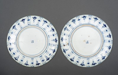 Lot 160 - PAIR OF PLATES DECORATED WITH BLOSSOMS