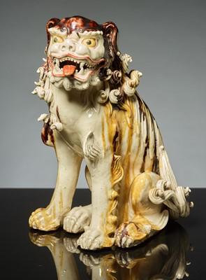 Lot 177 - SEATED LION DOG KARASHISHI