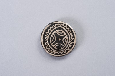 Lot 241 - A LOT OF EIGHT STONE COIN-SHAPED BEADS